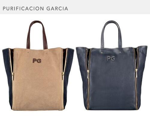Purificación García, bolsos grandes