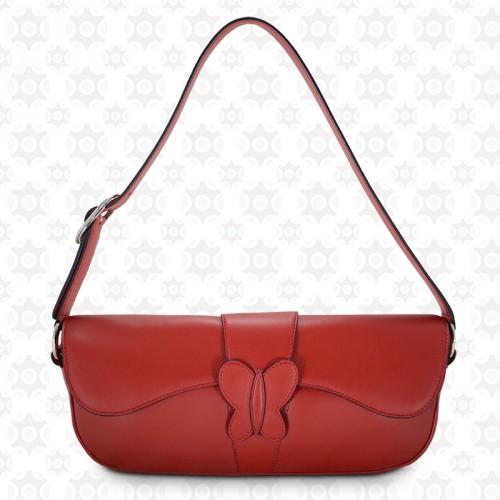 Bolso Baguette Rojo Barada