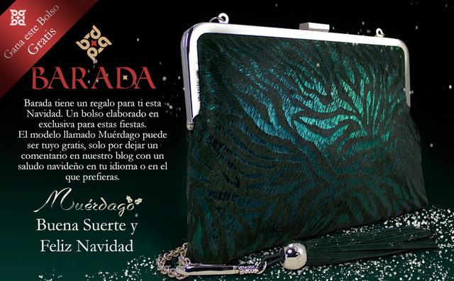 Sorteo Bolso Muérdago de Barada, consiguelo gratis esta navidad.